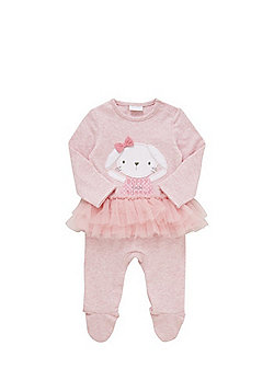 F&F Embroidered Bunny Tutu All in One - Pink