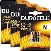 6 x Duracell MN9100 1.5V Alkaline Battery LR1 E90 KN
