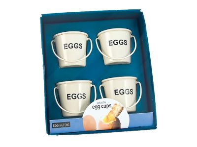 Eddington 83012 Egg Bucket Egg Cups Cream X4