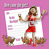 Holy Mackerel Here come the girls Party Invitations, Pack of 8