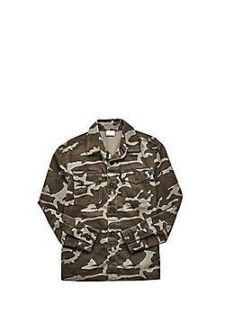 F&F Utility Camo Print Shirt - Khaki