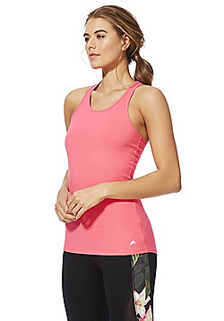 F&F Active Soft-Touch Quick Dry Vest Top - Pink