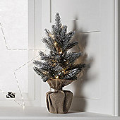 53cm Pre Lit Battery Mini Artificial Christmas Tree