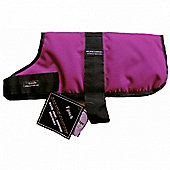 Outhwaite Waterproof Dog Coats Padded Lining - Raspberry 30cm/12