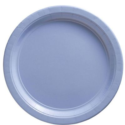 Baby Blue Plates - 23cm Paper Party Plates - 50 Pack