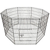 PGO Puppy Play Pen - Silver