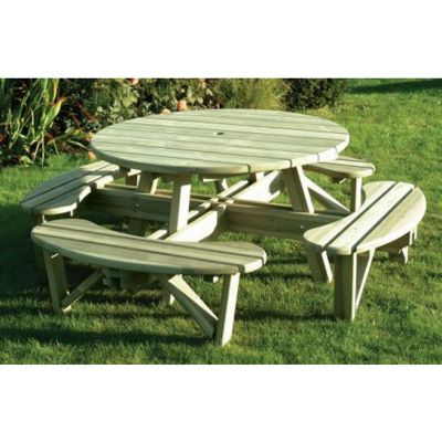 Buy Heavy Duty Large Round Picnic Table From Our Wooden Garden - Large round picnic table