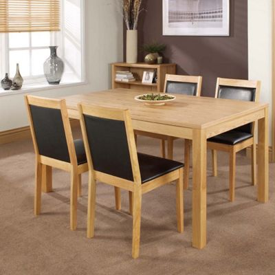 Home Zone Charlton Dining Chair in Oak (set of 2)