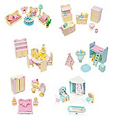 Complete 6 sets of Sweetbee Dolls House Furniture