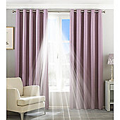 Riva Home Eclipse Blackout Eyelet Curtains - Mauve