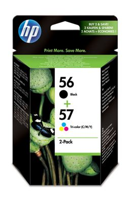HP 56 Black/57 Tri-colour 2-pack Original Ink Cartridges
