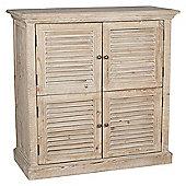 Natural Reclaimed Fir Wood 4 Door Cabinet