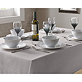 Select Round Tablecloth 90cm - Silver