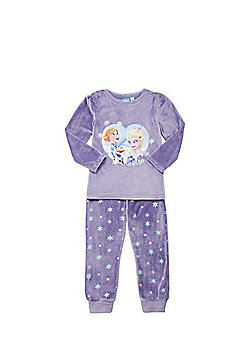 Disney Frozen Velour Twosie with Cape - Purple