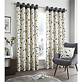 Fusion Beechwood Curtains - Charcoal
