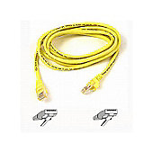 RJ45 CAT-5e Snagless Molded Patch Cable Yellow 1m (3 ft)