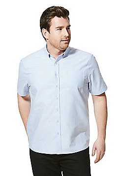 Jacamo Short Sleeve Oxford Shirt - Blue