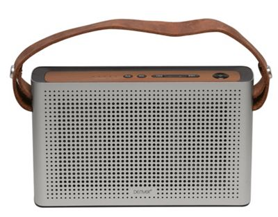 Denver BTS-200 Silver Speaker with Bluetooth, USB and Rechargeable Battery