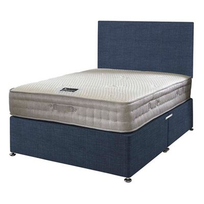 Happy Beds Bamboo Vitality 2000 Divan Bed Set No Drawer 2ft6 Midnight Blue