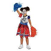 F&F Zombie Cheerleader Halloween Costume - Red