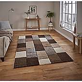 Brooklyn Hand Carved Squares Rug - Beige