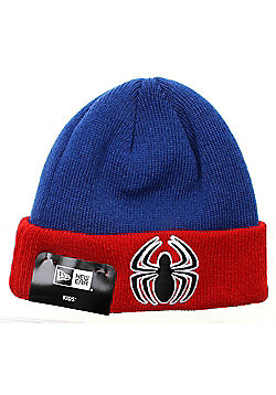 New Era Cap Co Infant Hero Cuff Beanie - Spiderman - Blue