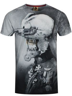 Monkey Business War Rabbit Black & White Men's T-shirt