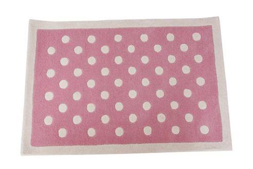 Dotty Children's Rug - Pink