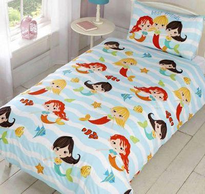Mermaid Friends Single Bedding