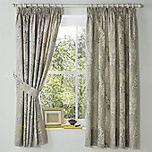 Dreams n Drapes Haze Lined Curtains 66X72 Inches (168x183cm) - Yellow