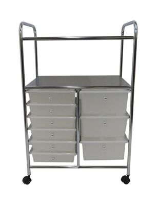 Aspen 9 Drawer Storage Trolley -White