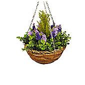 Artificial Lavender & Eucalyptus Topiary Hanging Basket (25cm) by Gardman