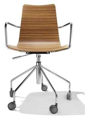 Parri Baby Office Armchair - Veneer - White
