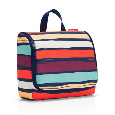 Reisenthel Hanging Travel Toilet Bag XL in Artists Stripe Design