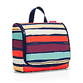 Reisenthel Hanging Travel Toilet Bag XL in Artists Stripe Design