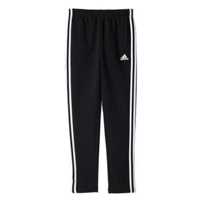 adidas Essential 3 Stripe Kids Tapered Tracksuit Pant Black - 7-8 Years