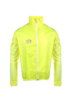 Optimum Mens Lightweight Hi-Vis Rain Jacket Running Cycling - Green