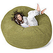 Lounge Pug™ Mega Mammoth Cord Bean Bag - Lime