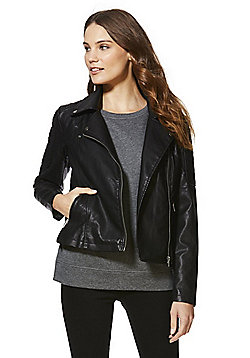 Noisy May Rebel Biker Jacket - Black