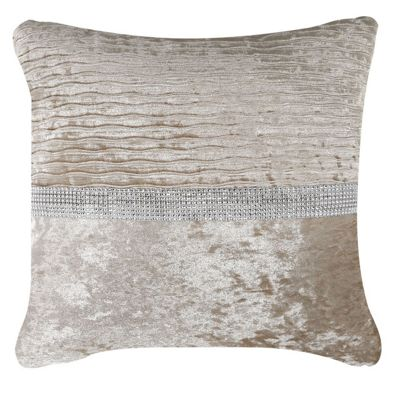 Natural Cushion Crushed Velv Cushion