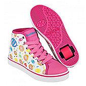 Heelys Veloz White/Pink/Donuts Kids Heely Shoe - Pink
