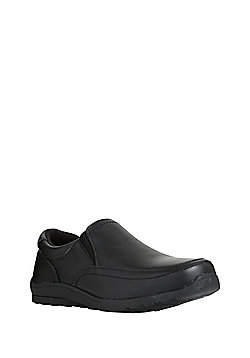 F&F Leather Slip-On School Shoes - Black