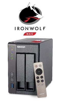 QNAP TS-251+-8G/16TB-IronWolf 16TB(2x8TB Seagate IronWolf) High-performance Intel quad-core NAS