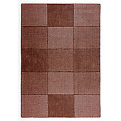 Oakland Wool Squares Chocolate Rug - 60x100cm