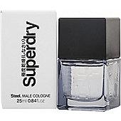 Superdry Steel Eau de Cologne 25ml Spray For Men