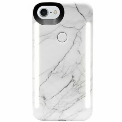 LuMee Duo LED Phone Selfie Case For iPhone 6/6S/7/8│Soft-Slim-Sleek│White Marble