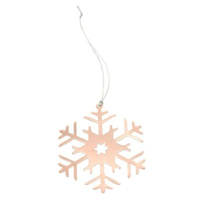 Rose Gold Snowflake Christmas Decorations