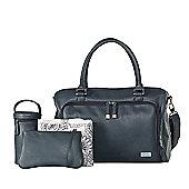 isoki Double Zip Satchel Balmain Charcoal - Changing Bag