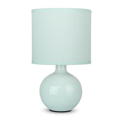 Small Ceramic Table Lamp, Mint Green