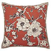 Floral Oxford Eedge Cushion